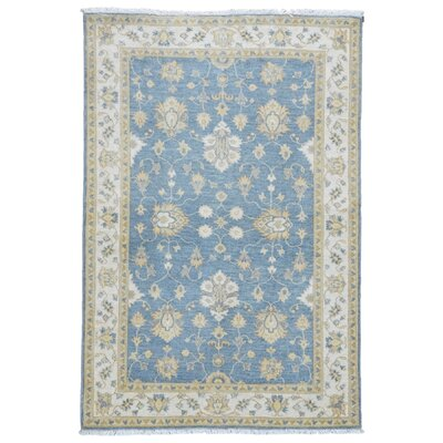 One-of-a-Kind Baron Oriental Hand-Knotted Wool Blue Area Rug