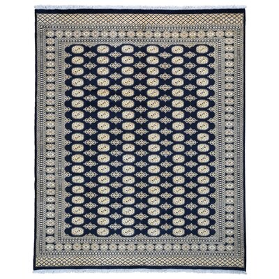 One-of-a-Kind Moloney Oriental Hand-Knotted Wool Black/Beige Area Rug