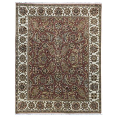 One-of-a-Kind Balic Oriental Hand-Knotted Wool Beige/Red Area Rug