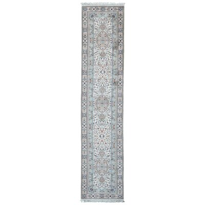One-of-a-Kind Exmore Oriental Hand-Knotted Wool Beige/Blue Area Rug