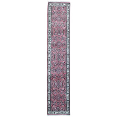 One-of-a-Kind Balcones Oriental Hand-Knotted Wool Pink Area Rug