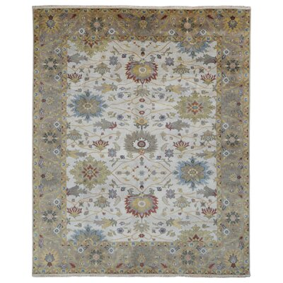 One-of-a-Kind Tanesha Oriental Hand-Knotted Wool Beige Area Rug