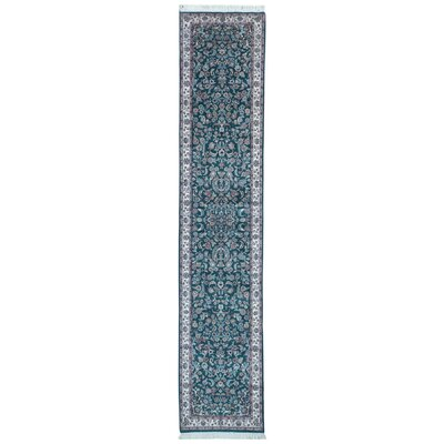 One-of-a-Kind Exmore Oriental Hand-Knotted Wool Green Area Rug
