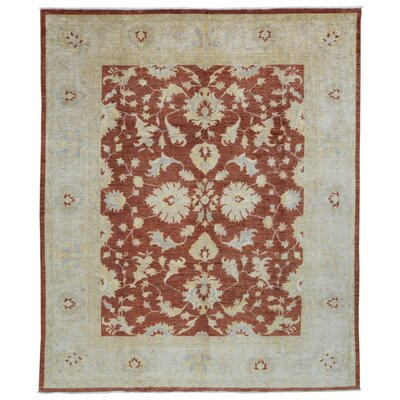 One-of-a-Kind Baron Oriental Hand-Knotted Wool Beige/Red Area Rug