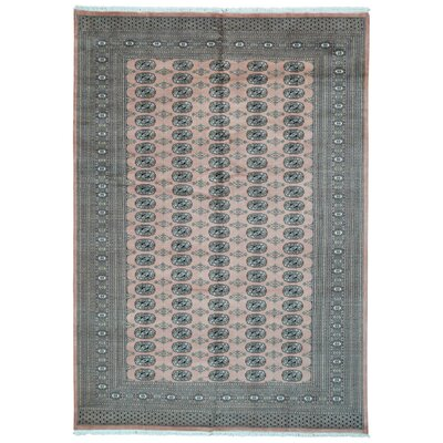 One-of-a-Kind Moloney Oriental Hand-Knotted Wool Pink/Gray Area Rug
