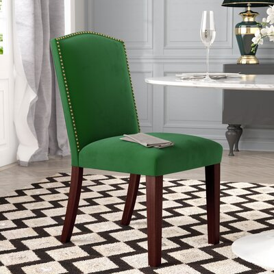 Gillenwater Side Chair Color: Fauxmo Emerald