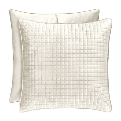 Baltasar Quilted Sham Size: King, Color: Ivory