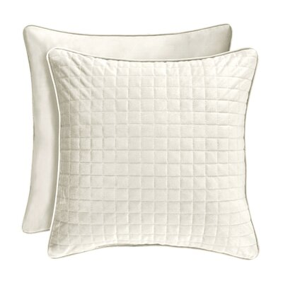 Baltasar Decorative Velvet Throw Pillow Color: Ivory