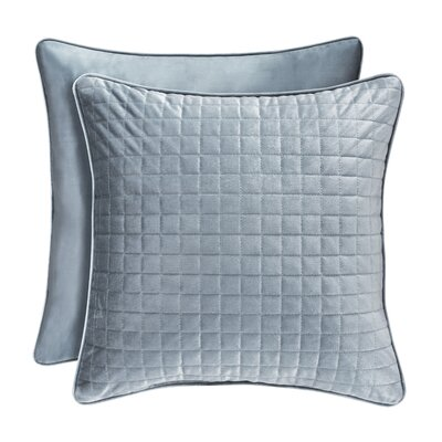 Baltasar Decorative Velvet Throw Pillow Color: Blue