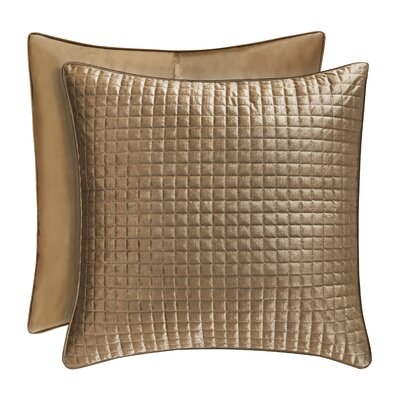 Baltasar Quilted Sham Size: Standard, Color: Gold