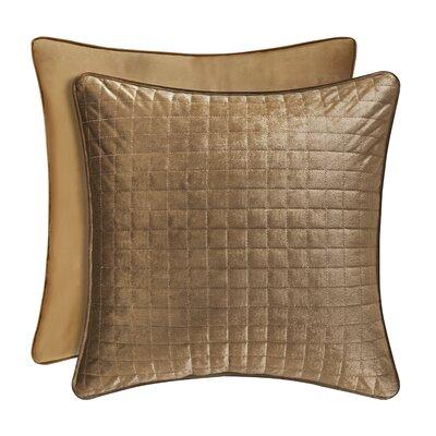 Baltasar Decorative Velvet Throw Pillow Color: Gold