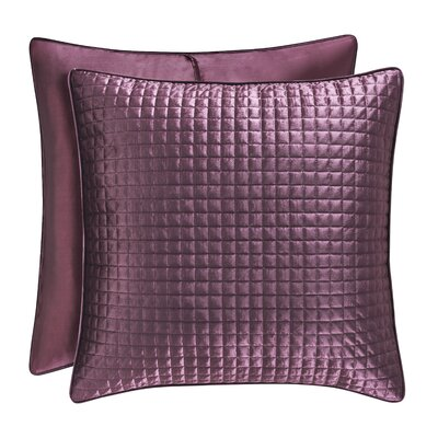 Baltasar Quilted Sham Size: King, Color: Amethyst