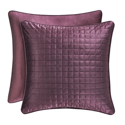Baltasar Decorative Velvet Throw Pillow Color: Amethyst