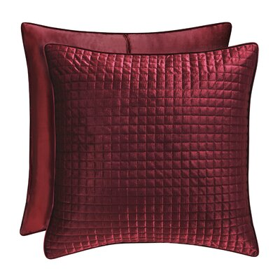 Baltasar Quilted Sham Size: Standard, Color: Wine