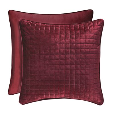 Baltasar Decorative Velvet Throw Pillow Color: Wine