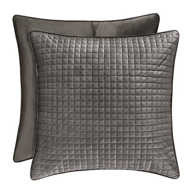 Baltasar Quilted Sham Size: King, Color: Graphite