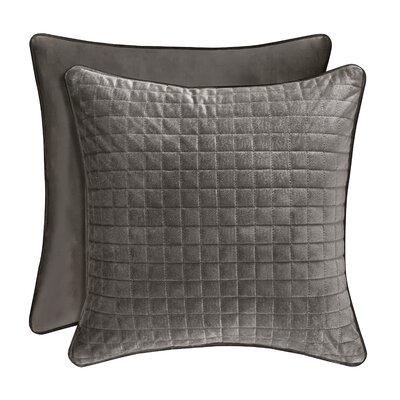Baltasar Decorative Velvet Throw Pillow Color: Graphite