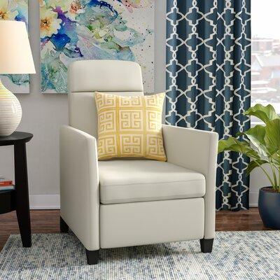 Yasmin Manual Recliner Upholstery: White