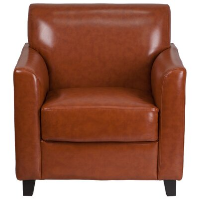 Muldoon Leather Lounge Chair Seat Color: Cognac