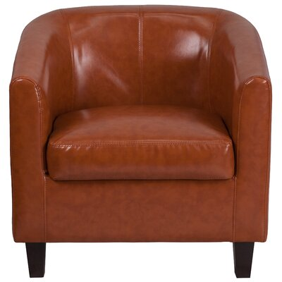 Olanta Bonded Leather Lounge Chair Seat Color: Cognac