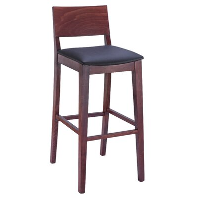 Entrekin 30 Bar Stool Frame Color/Seat Color: Mahogany/Black