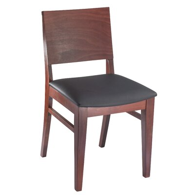Entrekin Dining Chair Frame Color: Mahogany, Seat Color: Black