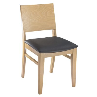Entrekin Dining Chair Frame Color: Natural, Seat Color: Black