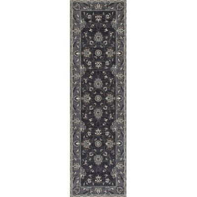 Rene Simply Open Gray Area Rug Rug Size: Runner 22 x 77