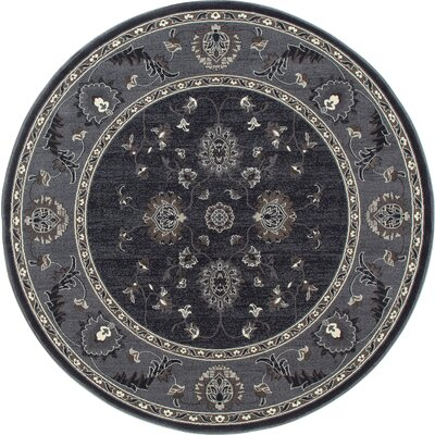 Rene Simply Open Gray Area Rug Rug Size: Round 710