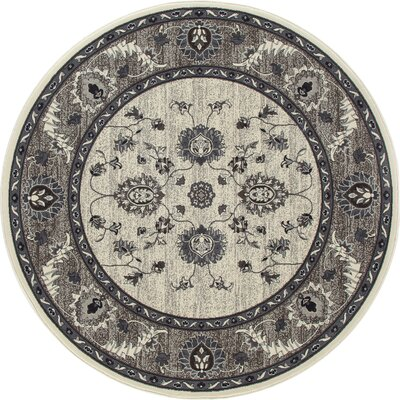 Renfro Simply Open Beige Area Rug Rug Size: Round 710
