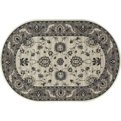 Renfro Simply Open Beige Area Rug Rug Size: Oval 67 x 910