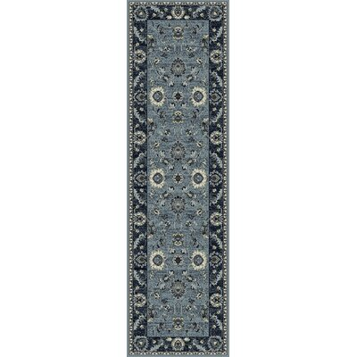 Renick Simply Open Medium Blue Area Rug Rug Size: Runner 22 x 77