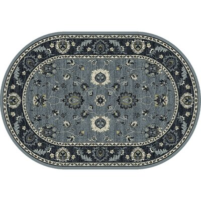 Renick Simply Open Medium Blue Area Rug Rug Size: Oval 67 x 910