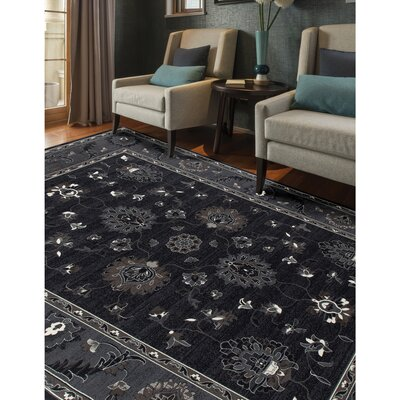 Rene Simply Open Gray Area Rug Rug Size: Rectangle 57 x 86