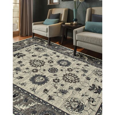 Renfro Simply Open Beige Area Rug Rug Size: Rectangle 57 x 86