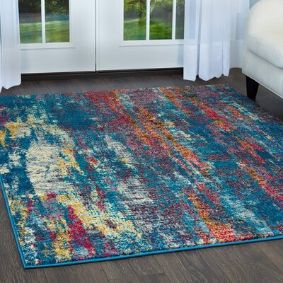 Gillon Vigo Blue Area Rug Rug Size: Rectangle 79 x 102