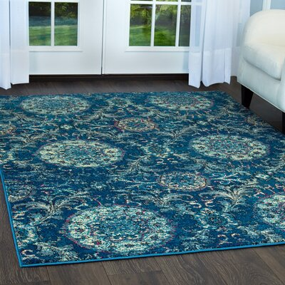 Moller Lana Blue Area Rug Rug Size: Rectangle 18 x 28