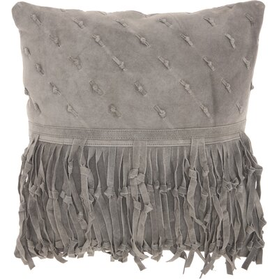 Bill Leather Throw Pillow Color: Gray