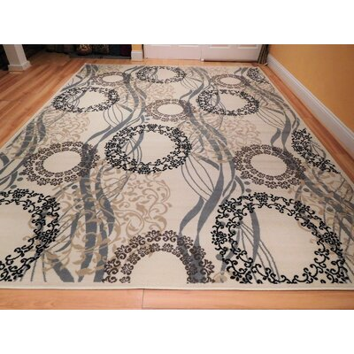 Kinyon One-of-a-Kind Wool Ivory Area Rug