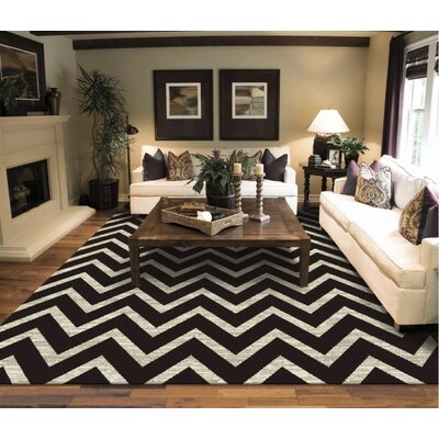 Glade One-of-a-Kind Wool Black/Ivory Area Rug