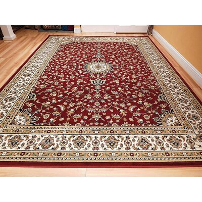 Naik One-of-a-Kind Wool Red Area Rug