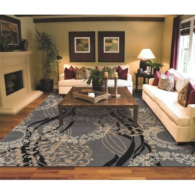 Kirkman One-of-a-Kind Wool Gray Area Rug