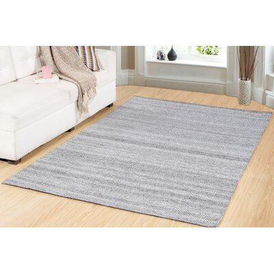 One-of-a-Kind Trance Hand-Woven Gray/Ivory Area Rug Rug Size: Rectangle 8 x 11