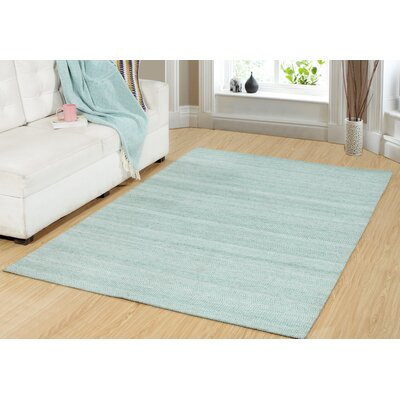 One-of-a-Kind Dacey Hand-Woven Teal Green Area Rug Rug Size: Rectangle 2 x 76