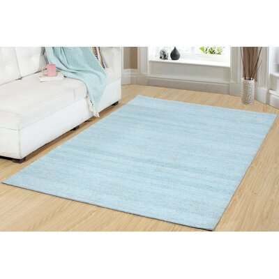 One-of-a-Kind Dacey Hand-Woven Blue Area Rug Rug Size: Rectangle 22 x 37