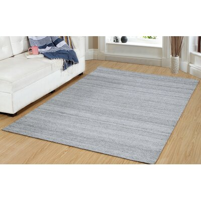 One-of-a-Kind Dacey Hand-Woven Silver/Gray Area Rug Rug Size: Rectangle 22 x 37