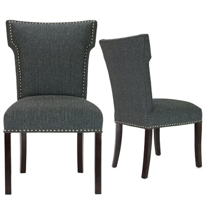 Kober Upholstered Dining Chair Upholstery Color: Charcoal