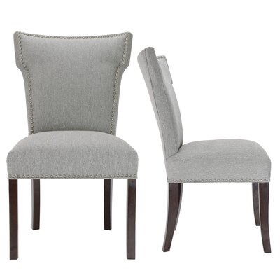 Kober Upholstered Dining Chair Upholstery Color: Gray