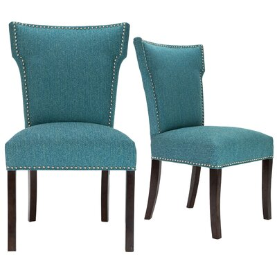 Kober Upholstered Dining Chair Upholstery Color: Turquoise