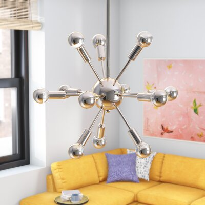 Zimmerman 12-Light Sputnik Chandelier Finish: Polished Nickel